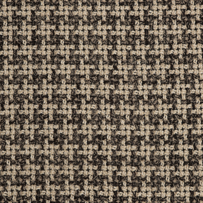 natural black checked blended wool woven 309098 11