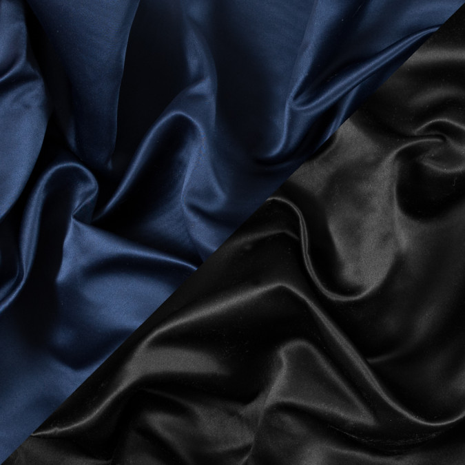 navy and black two tone double duchesse satin 312586 11