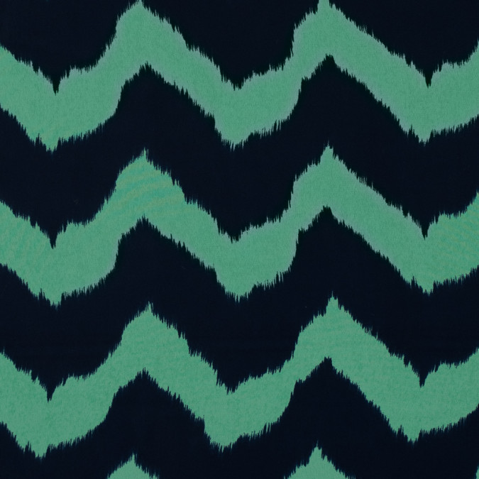 navy and spring bouquet zig zag ikat printed polyester chiffon 313505 11