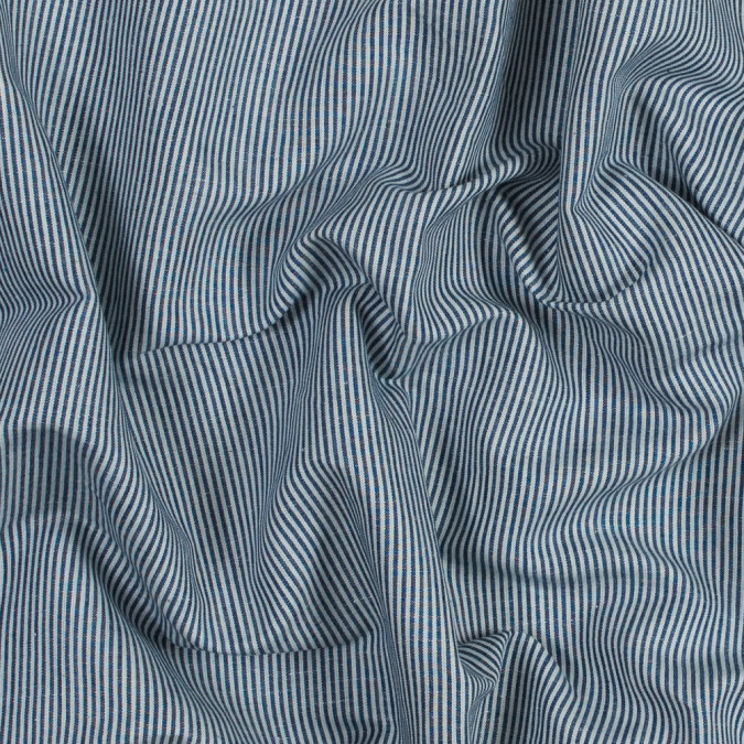navy and white candy striped cotton woven 318839 11