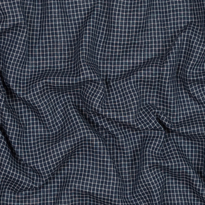 navy and white checkered cotton double cloth 318844 11