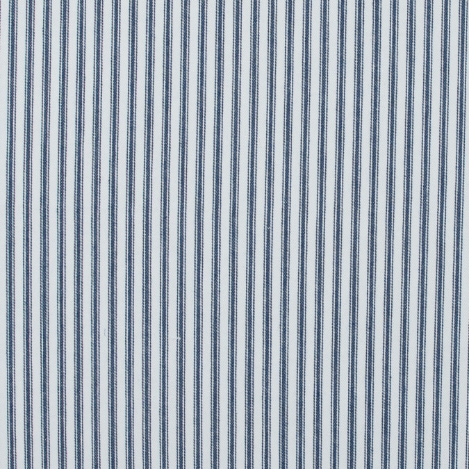 navy and white ticking striped cotton twill 118037 11
