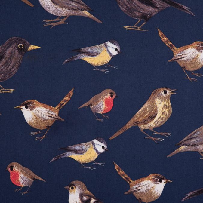 navy bird printed stretch cotton twill 113772 11