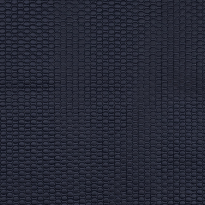 navy circular geometric quilted coating 318355 11