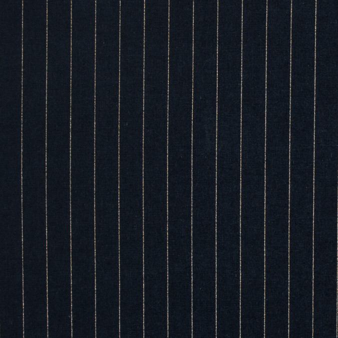navy cotton lawn with metallic gold pinstripes 314123 11