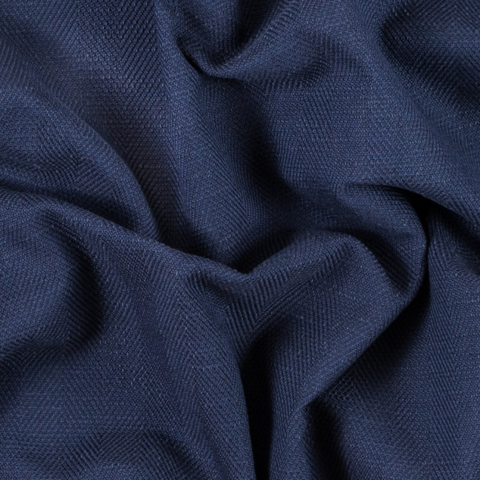navy herringbone cotton woven 311911 11