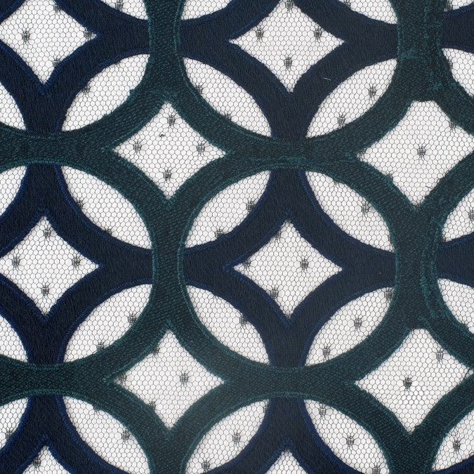 navy jasper circular geometric nylon lace with netting 308095 11