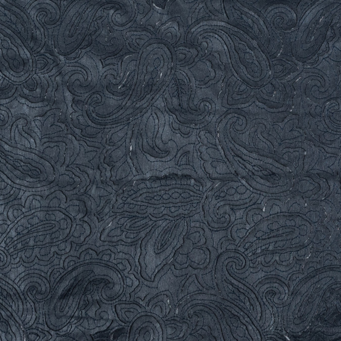 navy paisley laser cut faux leather top stitched to a mesh backing 318417 11
