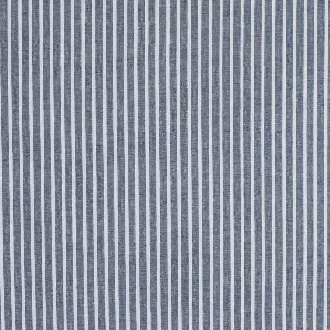 navy pencil striped cotton chambray 316483 11