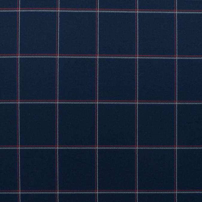 navy red white windowpane checkered stretch cotton twill 114176 11