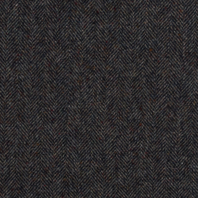 navy speckled herringbone wool coating 317304 11