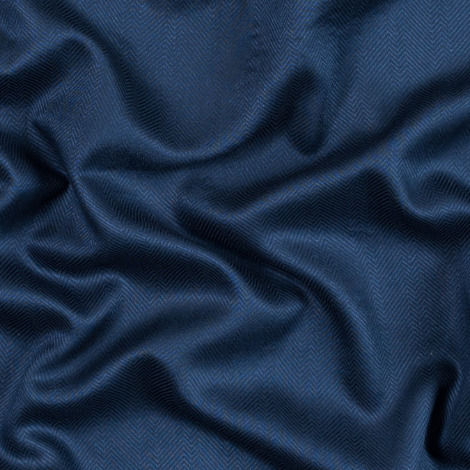 navy viscose batiste with a woven off kilter chevron design 314106 11