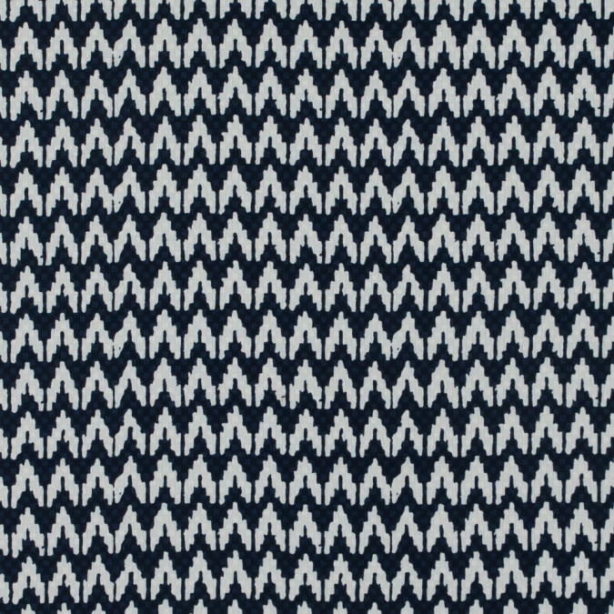 navy white chevron cotton dobby jacquard 114158 11