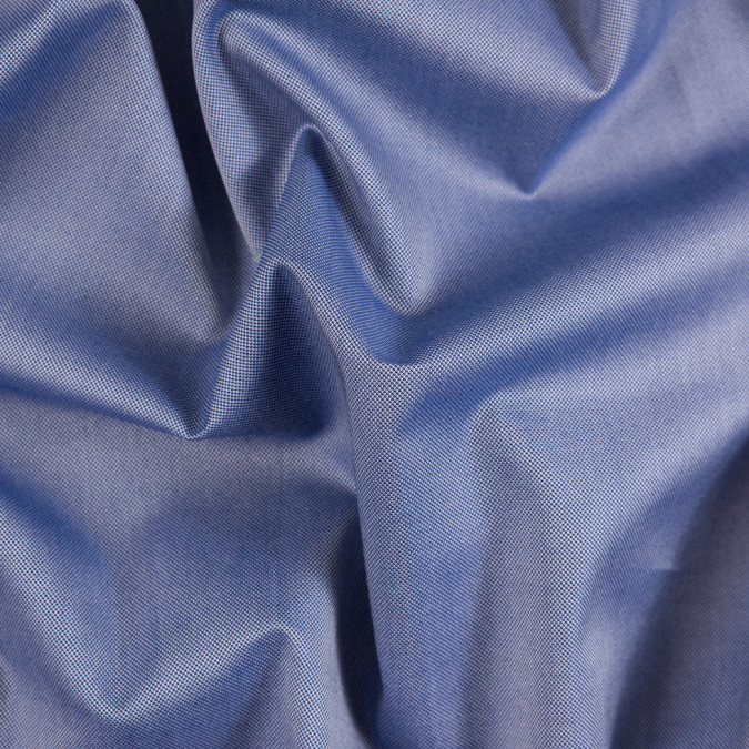 navy white pinpoint twill mercerized cotton shirting 310211 11