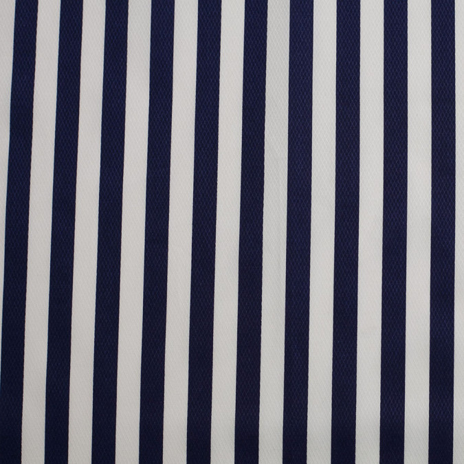 navy white striped cotton dobby 306389 11