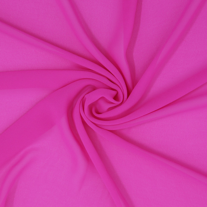neon fuchsia polyester georgette 307188 11