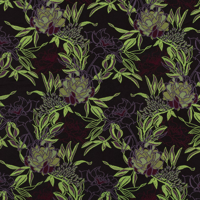 neon green maroon and lavender floral jacquard 318331 11