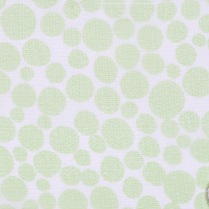 neon green off white polka dots print fs12439 11