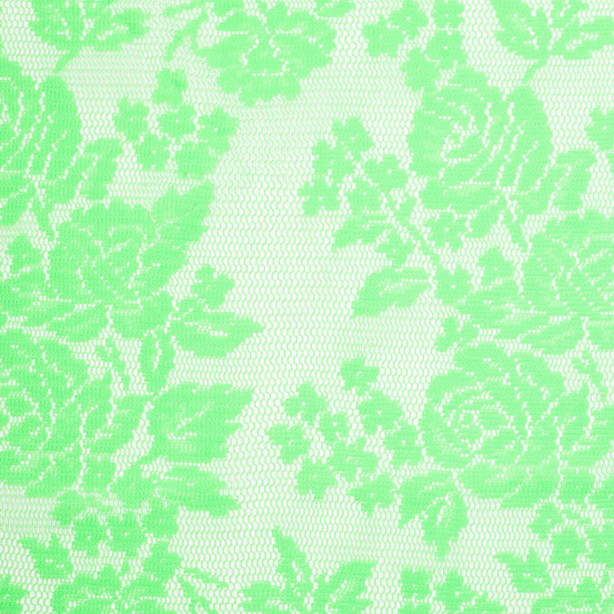 neon lime floral polyester heavy crochet lace 307003 11