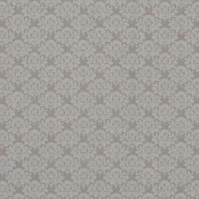 nougat floral stretch cotton twill 314138 11