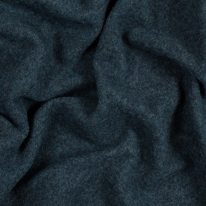 oceanic blue double faced wool coating 317210 11