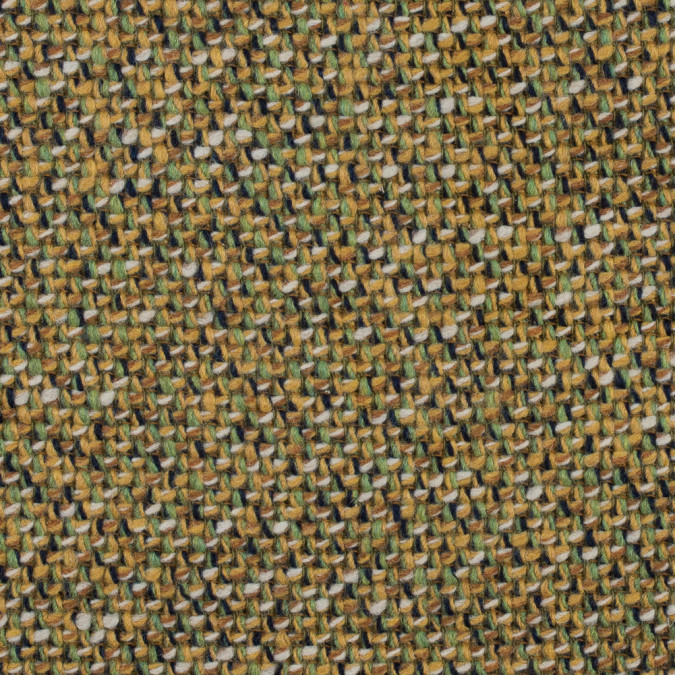 ochre and piquant green woven wool coating 314120 11