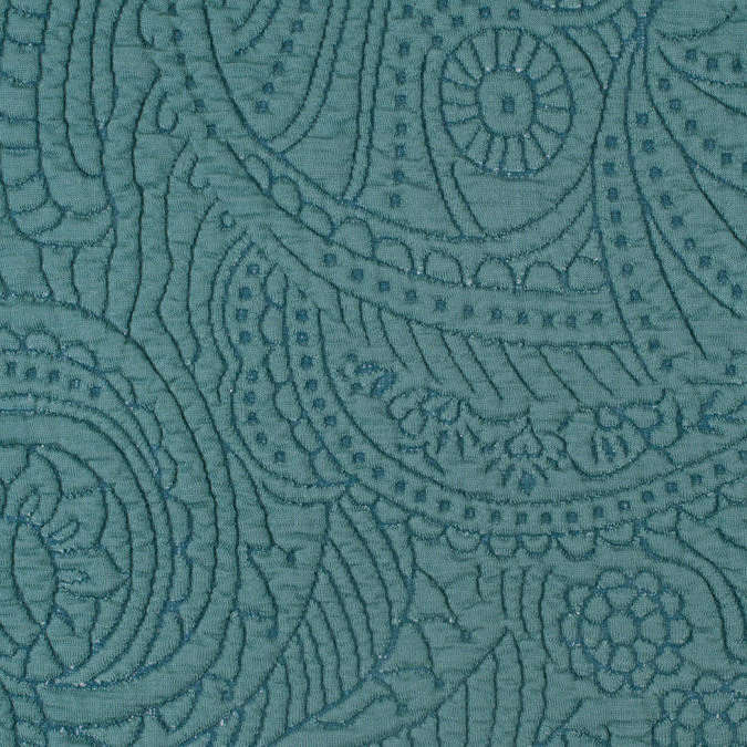 oil blue dimensional paisley knit 308040 11