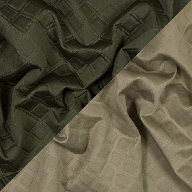 olive and beige diamond quilted double faced neoprene 318634 11