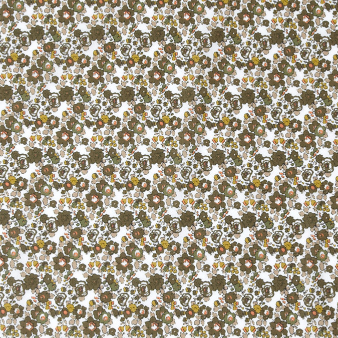 olive floral combed cotton voile 308411 11