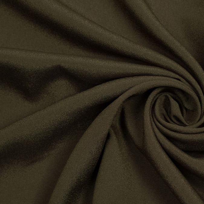 olive mechanical stretch polyester crepe de chine 306648 11