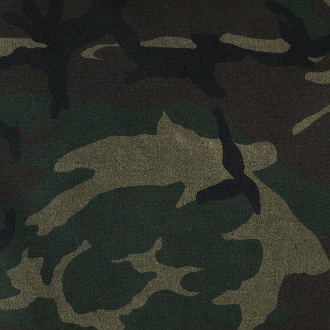 olive woodland camo printed waxed cotton woven 315917 11