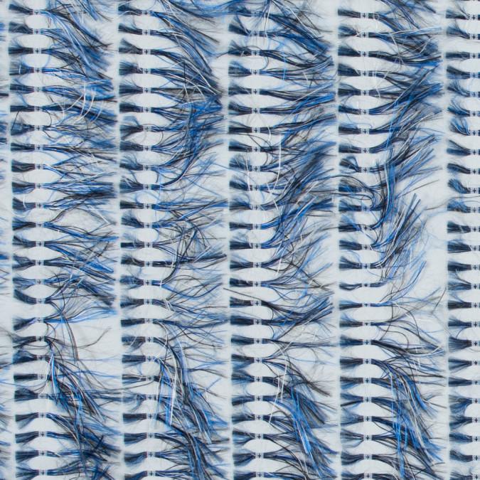 optic white and china blue eyelash fringe fabric 317628 11