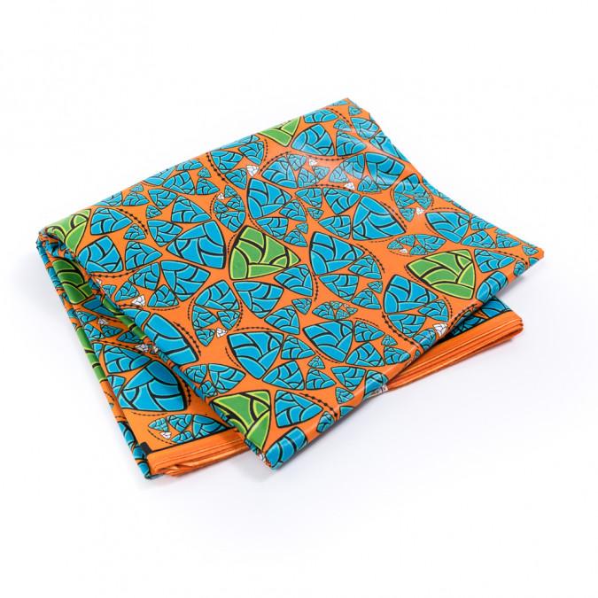 orange and blue dinosaur egg waxed african print 317755 11