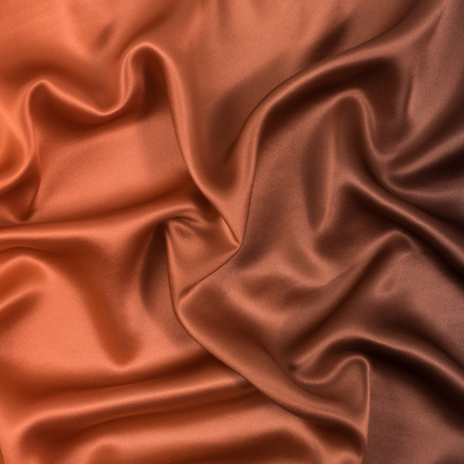 orange and brown ombre silk charmeuse 314000 11