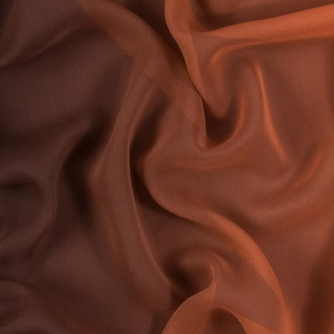 orange and brown ombre silk chiffon 314014 11