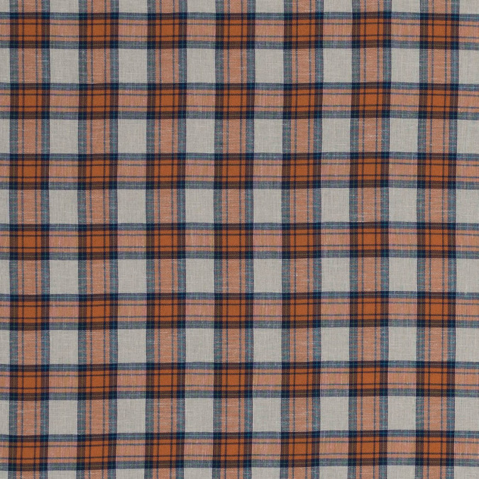 orange and navy plaid cotton woven 318780 11