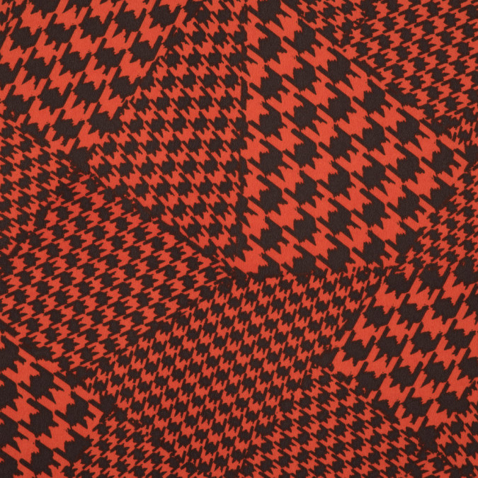 orange brown abstract houndstooth printed polyester woven 309903 11