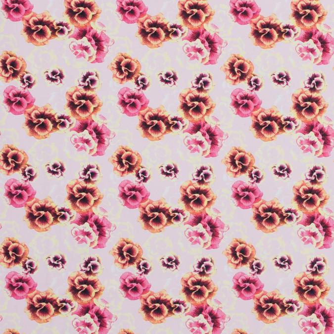 orange floral uv protective compression tricot with aloe vera microcapsules 317204 11