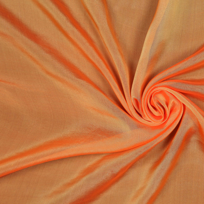 orange silk iridescent chiffon fsisc 18854 11