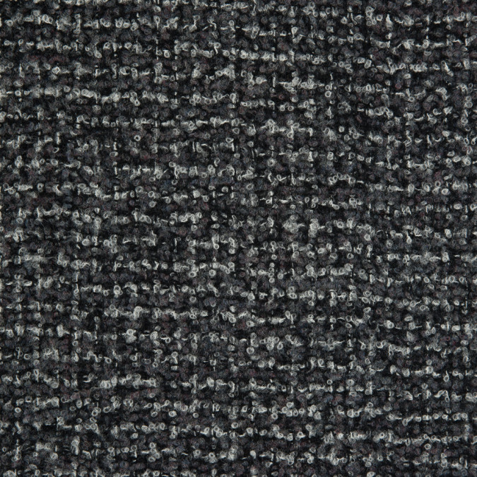 oscar de la renta black gray wool and cashmere boucle 310275 11