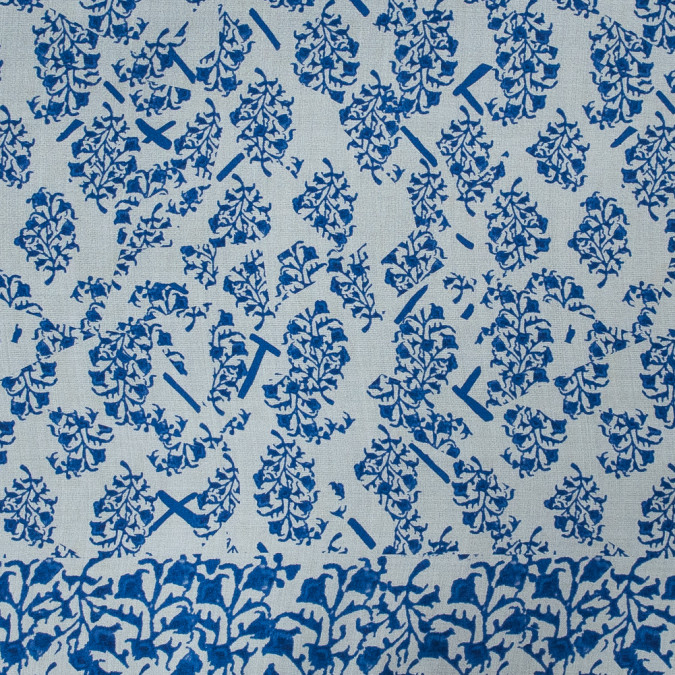 oscar de la renta blue and white floral silk organza 318709 11
