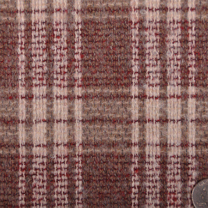 oscar de la renta brick natural plaid coating fw11972 11