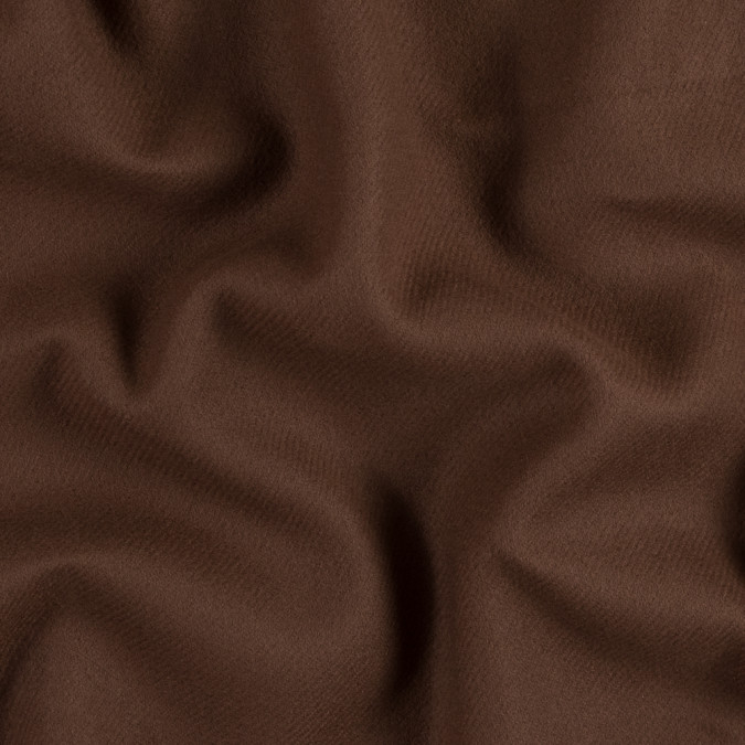 oscar de la renta brown double faced twill cashmere coating 313740 11