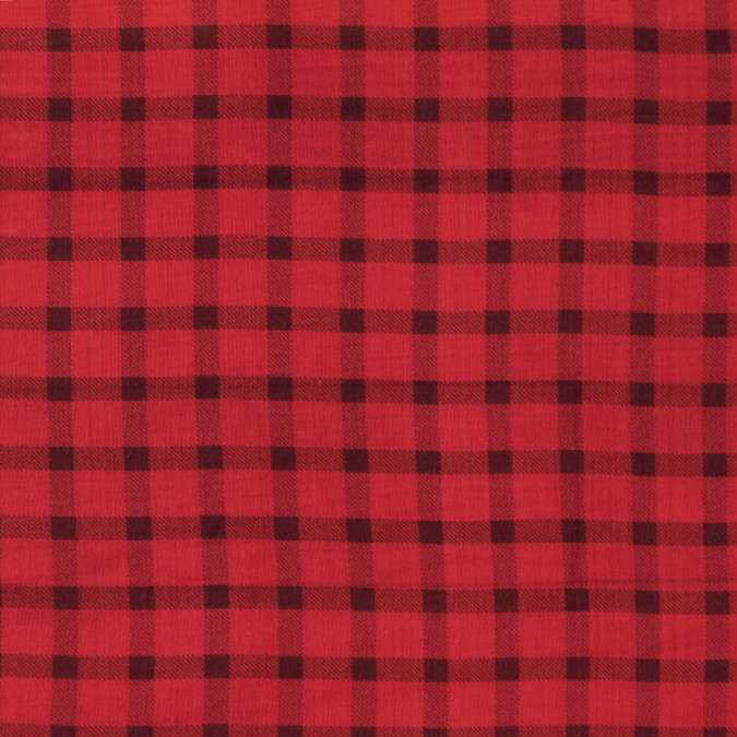 oscar de la renta red and black shepherd s check silk organza 312972 11