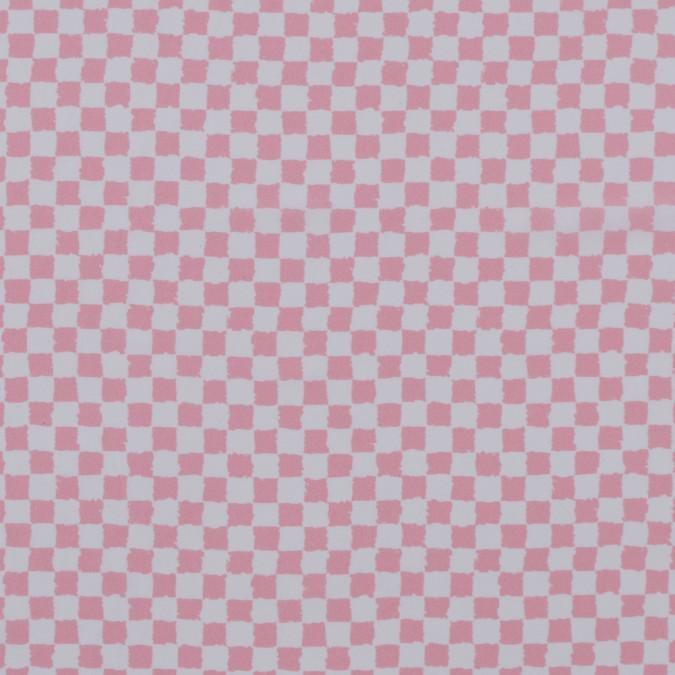 oscare de la renta peony pink checkered stretch silk crepe de chine 313213 11