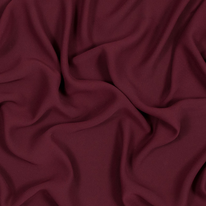 oxblood red polyester double georgette 318482 11