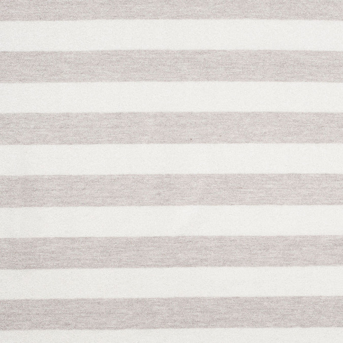 oyster brown gray metallic striped cotton jersey knit 307883 11