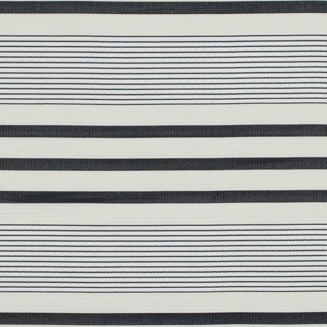 oyster gray and black striped polyester and cotton ottoman 317524 11