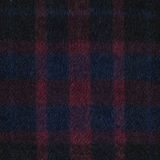 patriot blue and beet red plaid mohair twill 313404 11