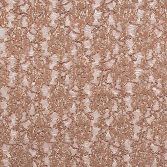 peach beige and metallic gold floral lace 312198 11